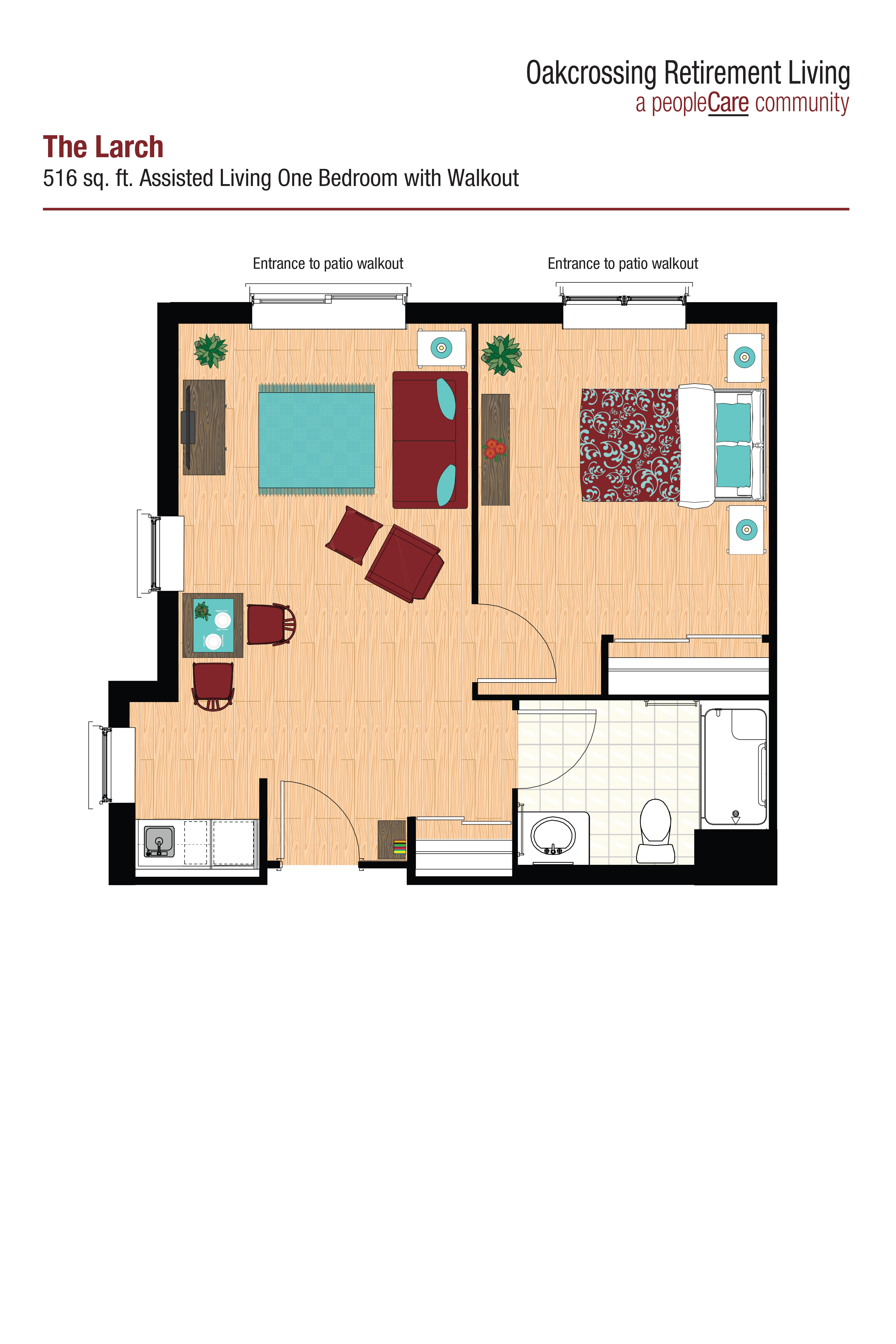 Oakcrossing Retirement Living – Floor Plan – The Larch